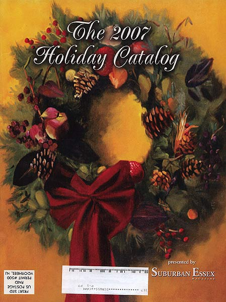 Karen Goldberg art on the cover of Suburban Essex Holiday magazine